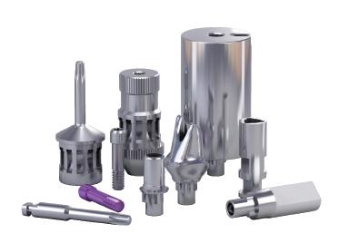 Implantų sistemų (MPS) protezavimo detalės