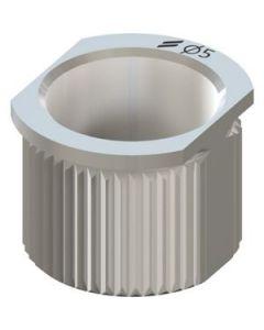 T-gilzė, Ø 5mm, H 5mm - nerudijantis plienas