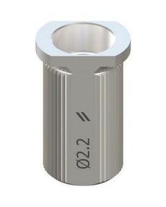 T-gilzė Ø 2.2mm, H 6mm - nerudijantis plienas